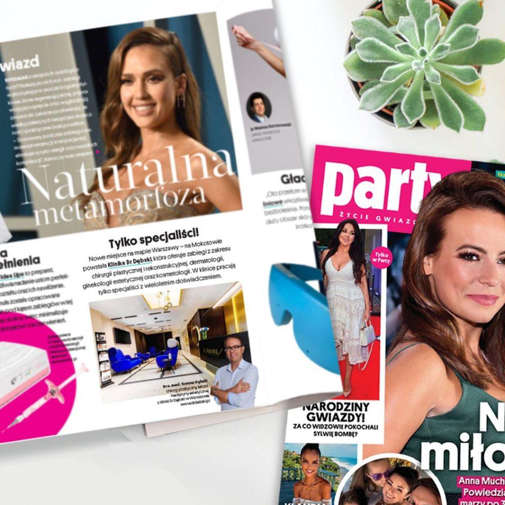 Magazyn Party rekomenduje klinikę Dr Dębski! 2